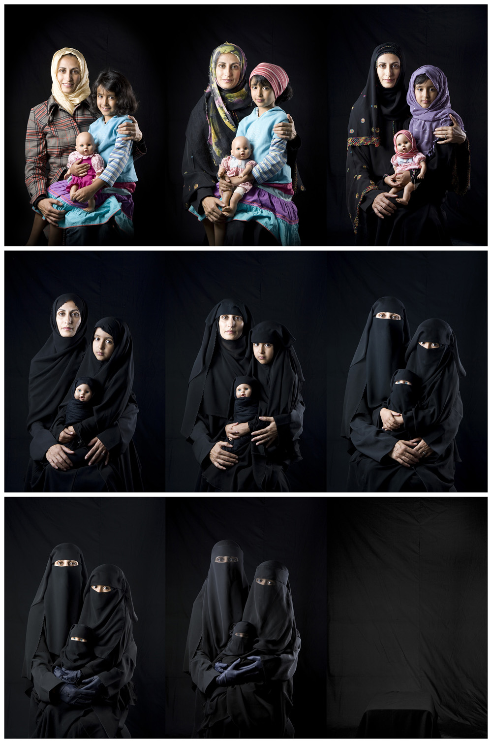 Mother, Daughter, Doll seriesBoushra Almutawakel (Yemeni, born in 1969) 2011 Photograph, chromogenic print (archival C-print) *© Boushra Almutawakel *Courtesy of the artist and East Wing Contemporary Gallery *Courtesy Museum of Fine Arts, Boston
