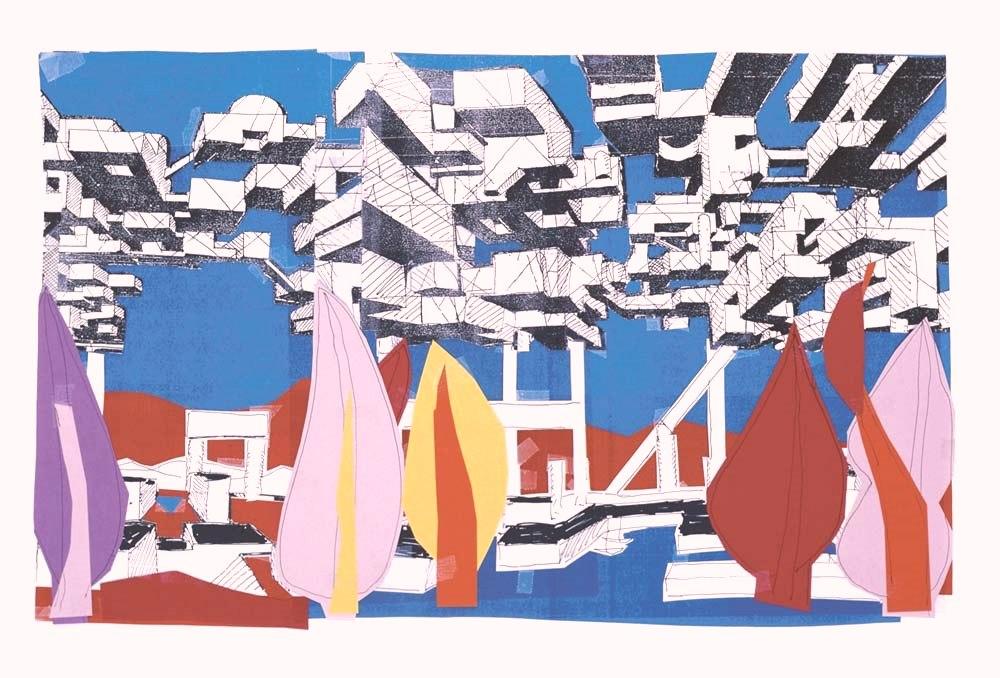 « The City above your head », Yona Friedman, 2001, Centre national des arts plastiques, FNAC 07-072 (2).