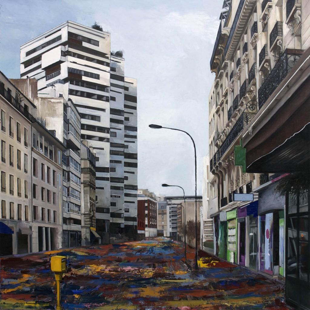 peinture ville immeuble