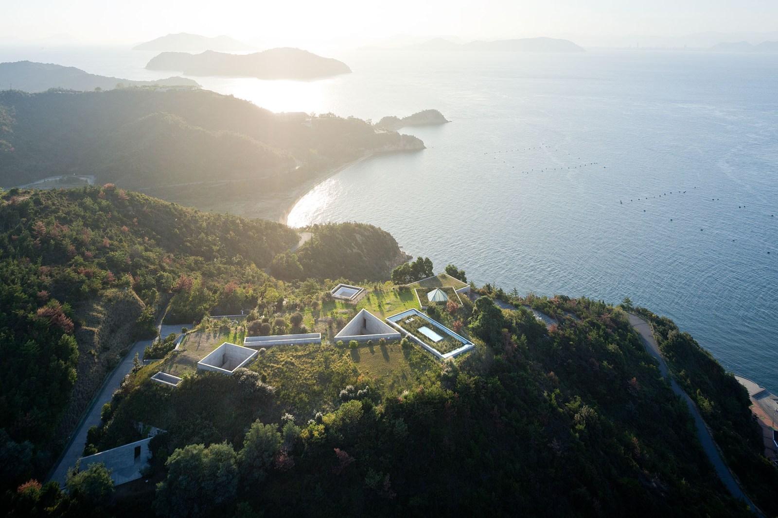 naoshima vue du ciel