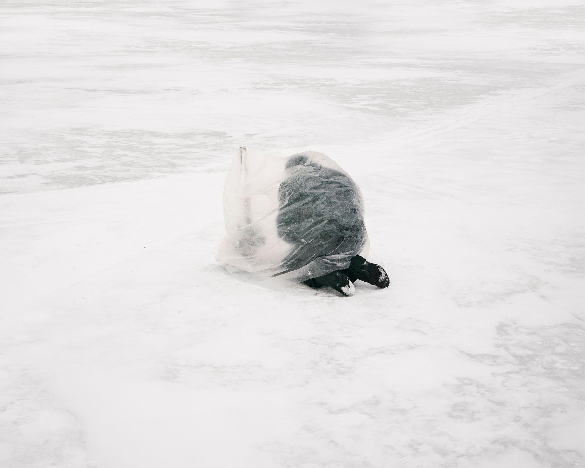 pecheur glace kazakhstan
