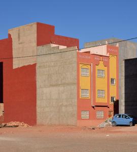 architecture maroc rouge desert