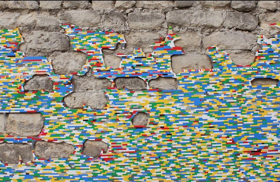 cubes legos ville mur