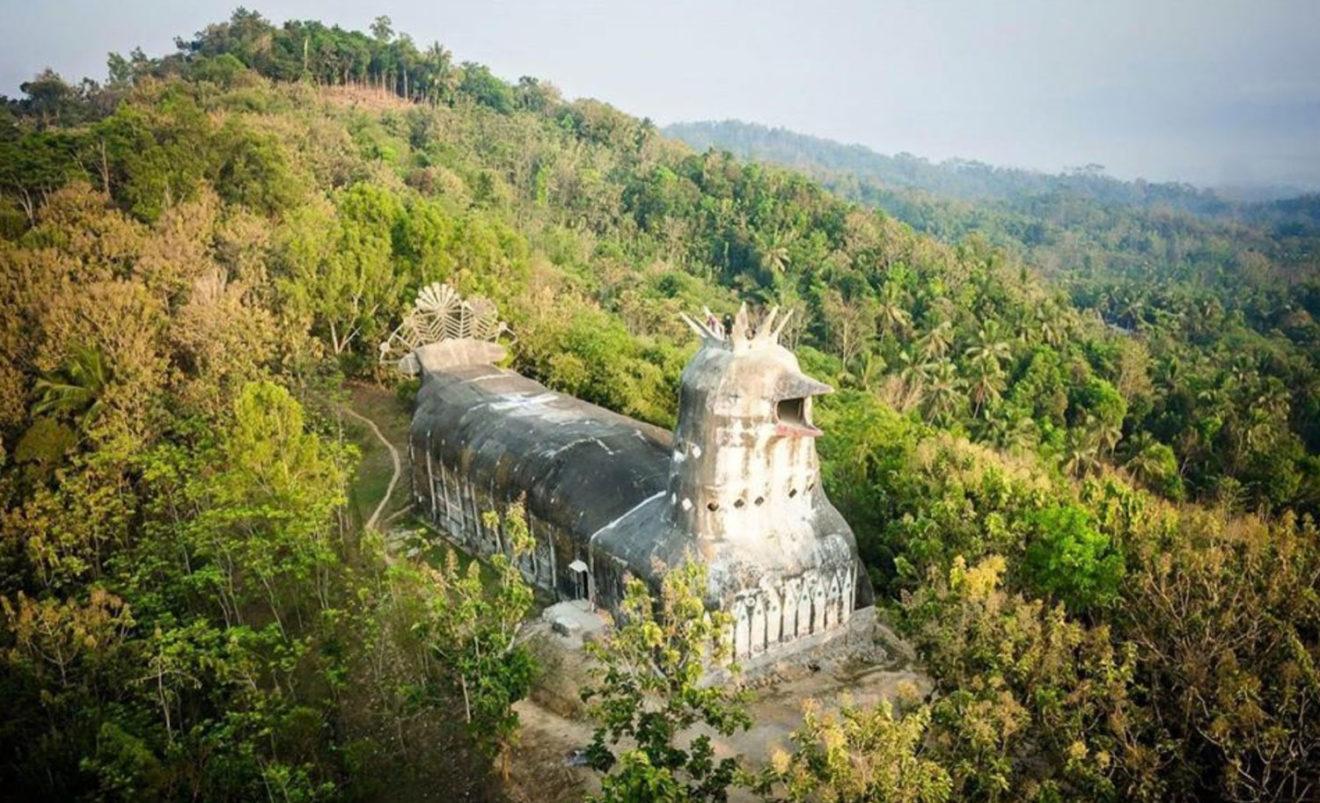 chapelle indonesie - poulet foret